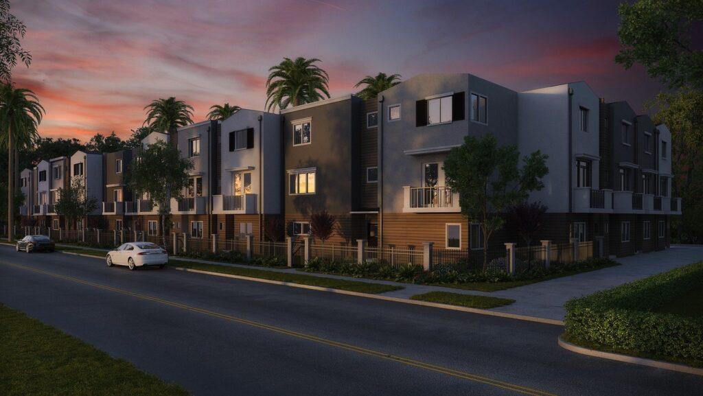 condo property sunset
