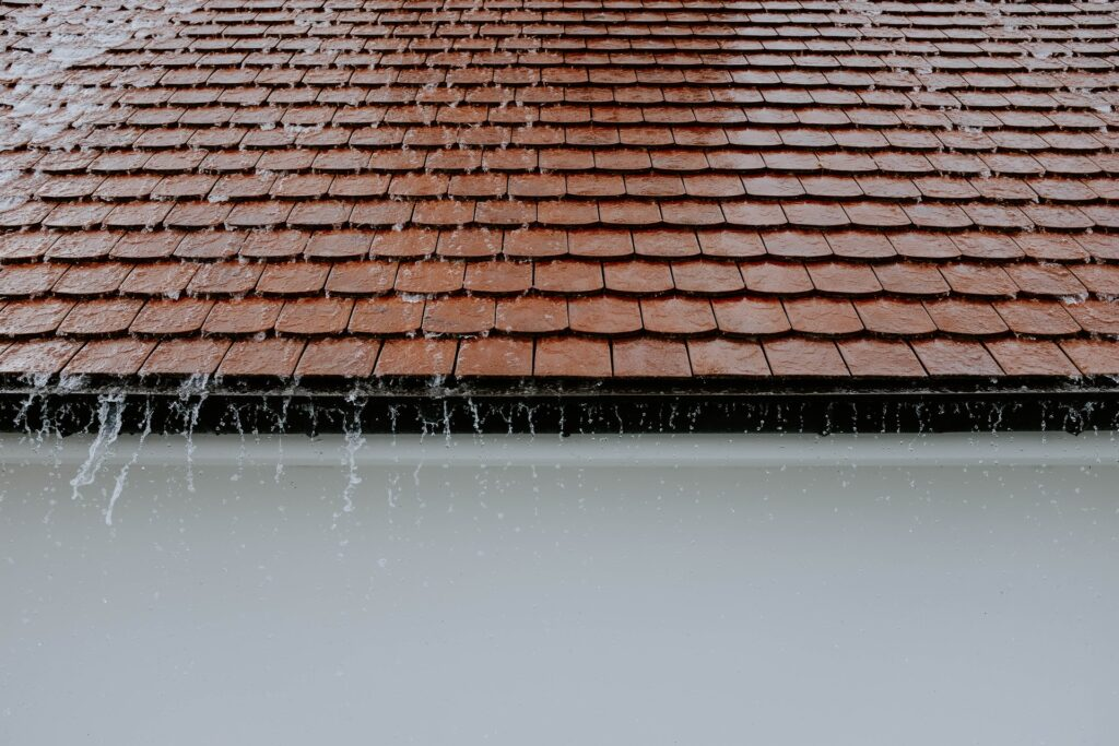 photo of roof water rain