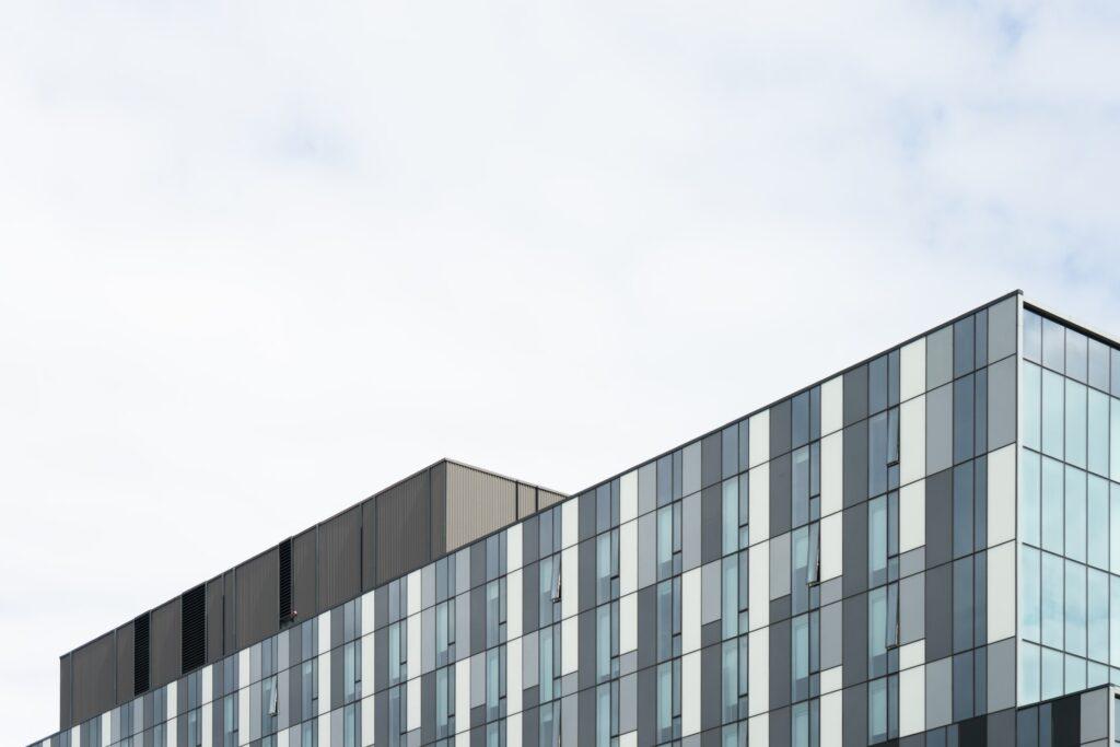 building new modern glass windows