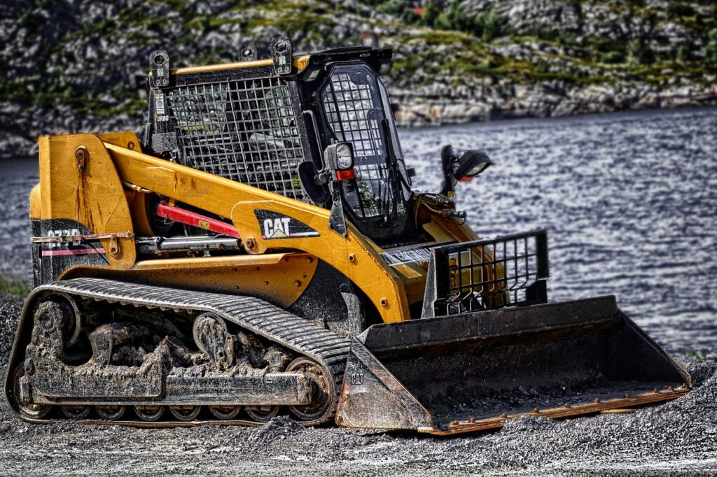 bobcat machinery in the gravel